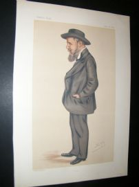 Vanity Fair Print 1878 Joseph Cowen, Spy Cartoon